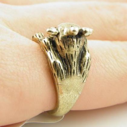 Gold Giraffe Wrap Ring
